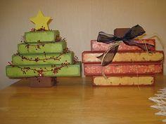 Crafts I Tried: 2x4 pumpkin and Christmas Tree
