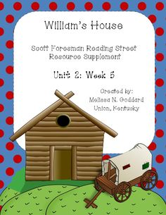 William's House Reading Street Grade 3 80 pages of Supp. Material   http://www.teacherspayteachers.com/Product/Williams-House-927105