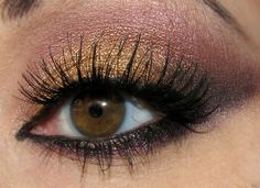 gold and pink eyeshadow
