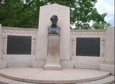 """Photo of the Lincoln Address Memorial, designed by Louis Henrick, with bust of Abraham Lincoln by Henry Kirke Bush-Brown, erected at the Gettysburg National Cemetery in 1912. Credit: CJC47; Wikimedia Commons. Read more on the GenealogyBank blog: """"Gettysburg Address: Abraham Lincoln's Monumental Speech."""" http://blog.genealogybank.com/gettysburg-address-abraham-lincolns-monumental-speech.html"""