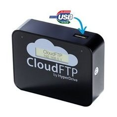 CloudFTP (Black) makes ANY USB Storage Device Wireless share data with Apple iPad, iPhone, & the Cloud.