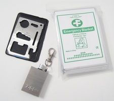 FREE SURVIVAL GEAR  11 in 1 Card Tool  Emergency Mylar Blanket  Zippo Million Match  Just pay $5.95 SHIPPING!