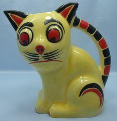 Cat Jug by Ditmar Urbach Czechoslovakia Pottery 1930s