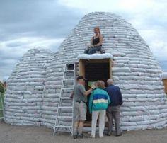 Sand bags house
