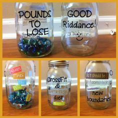 Motivational weight loss jars!