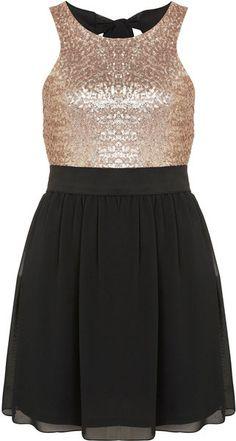 Sequin Bodice Dress