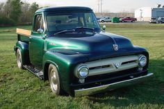 Green 1953 FORD F-100