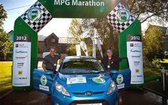 mpg, marathons, fiesta achiev, fiestas, fuel consumpt, ford fiesta, marathon 2012