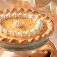 Eggnog Recipes from Taste of Home, including Eggnog Pie Recipe