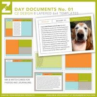Day Documents Layered 6x4 Cards No. 01