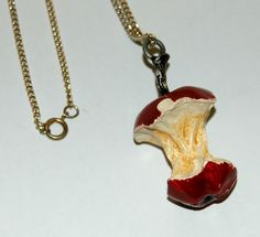 Bitten Apple Necklace