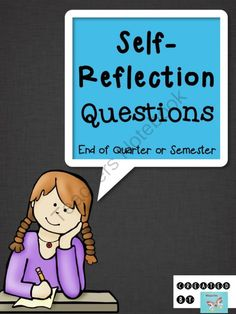 Self-Reflection Questions - End of Quarter or Semester from WingedOne on TeachersNotebook.com -  (6 pages)  - Four open-ended questions to guide students through self-reflection about their learning, skills, and strategies!