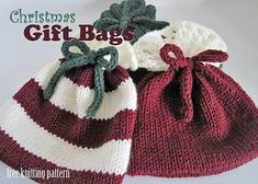 Ravelry: Christmas Gift Bags pattern by Melanie Cook Smith. Free pattren