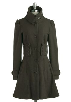 The Importance of Being Forest Coat | Mod Retro Vintage Coats | ModCloth.com