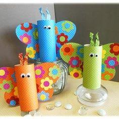 butterfli, craft kids, toilet paper rolls, july crafts, toilet paper tubes
