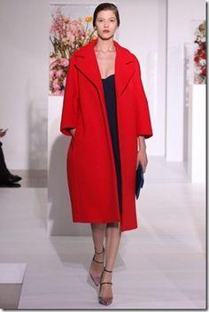 Jill Sander red coat