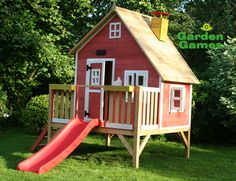 Crooked Penthouse Wooden Playhouse 3258