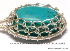How to make Turquoise Filigree Pendant