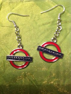 London Underground earrings. on Etsy, $9.45