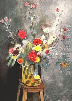 Henri Matisse:Bouquet of mixed flowers