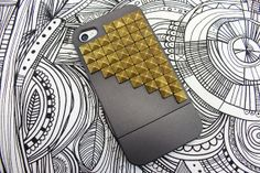 stud phone, phone case, brass stud