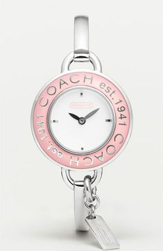 COACH pink enamel limited edition Phoebe bangle watch was more than just an elegant way to keep time: its purchase supported the Breast Cancer Research Foundation