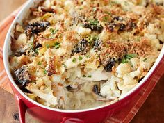 Chicken Tetrazzini Casserole with Cauliflower #UltimateComfortFood