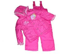 Disney Princess Toddler Winter Coat with Suspender Style Snowpants