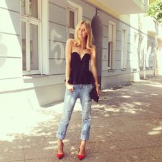 Tulla - bustier and jeans