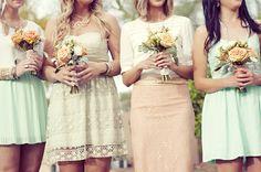 bride maids, color palettes, mint green, color schemes, bridesmaid dresses, the dress, bridesmaid bouquets, color themes, color photography