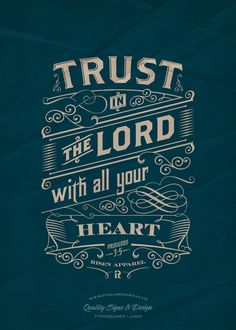Trust in the Lord   Typography