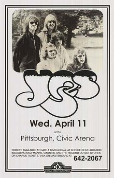 Vintage, retro, hippie, classic rock concert poster - Yes