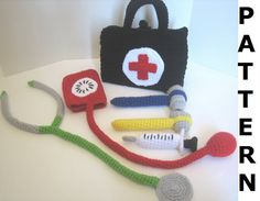 Doctor Kit Crochet Pattern - finished items made from pattern may be sold. $5.00, via Etsy.