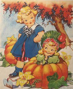"""Vintage """"Peter, Peter Pumpkin Eater"""" by Ethel Hays, via Etsy."""