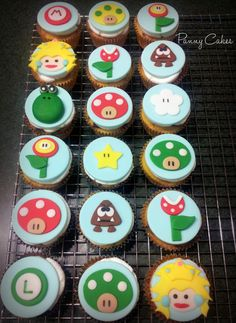 Mario Brothers Fondant Cupcake Toppers