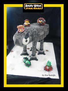 ANGRY BIRDS STAR WARS Cake by AnaRemigio