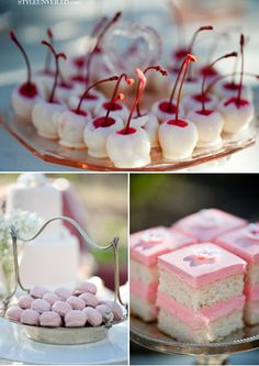 chocolate cherries | cherry blossom theme