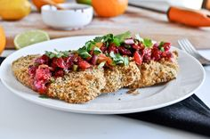 Citrus crusted tilapia