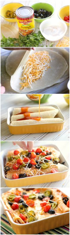 Easy Cheese Enchiladas #oldelpaso