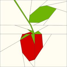 Sweet raspberry quilt block pattern by trilliumdesign