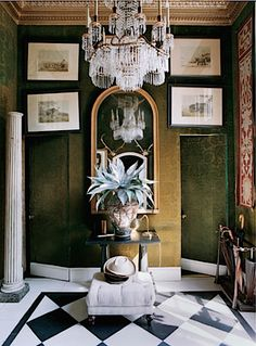 entry hall of John Richardson's guesthouse, photo by François Halard for T magazine