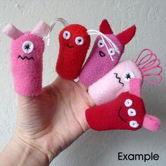 Valentine Monster Finger Puppets