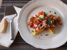 Crispy Polenta with Quick and Easy Veggie Ragu