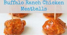 Buffalo Ranch Meatballs #whole30 #lowcarb