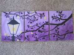 Enchanted Evening silhouette canvas painting