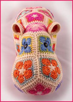 happypotamus the happy hippo - pattern by Heidi Bears
