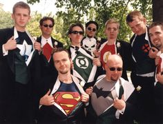Superhero Groomsmen- Not saying that this will happen, but if I marry someone as nerdy as I am, it's a good possibility!