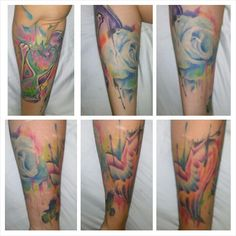Watercolor tattoo love on pinterest watercolor tattoos for Endless summer tattoo