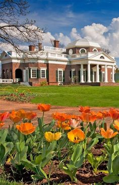 Another beautiful view of Monticello in Spring