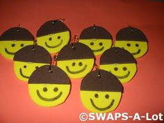 Brownie swaps. Would be cute to add in yarn for hair. A simple swap for bridging ceremony, easy to make each age level.